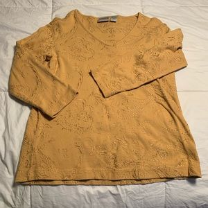 All cotton sweater embroidered